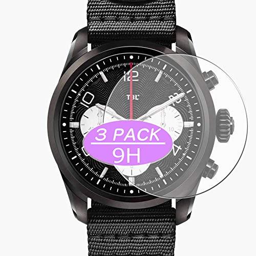 VacFun 3 Piezas Vidrio Templado Protector de Pantalla, compatible con MONTBLANC Summit 2, 9H Cristal Screen Protector Protectora Reloj Inteligente NEW Version