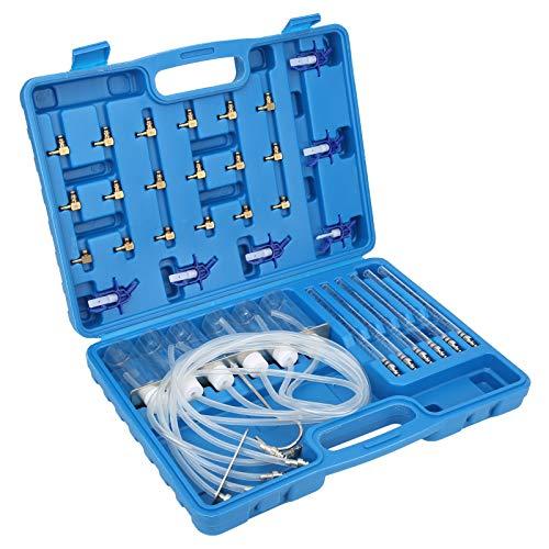 Juego de adaptadores de medidor de flujo diesel fácil de usar, tubos de medición con ABS y daños de inyector de caudal de acero inoxidable