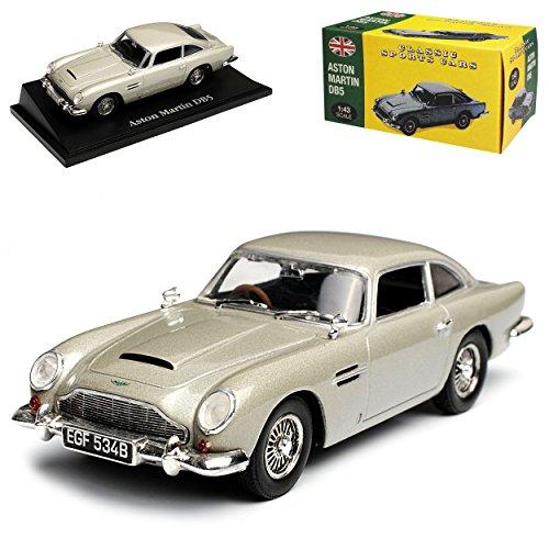 Atlas Aston Marton DB5 Coupe Silber James Bond Goldfinger 1963-1965 1/43 Norev Modell Auto mit individiuellem Wunschkennzeichen