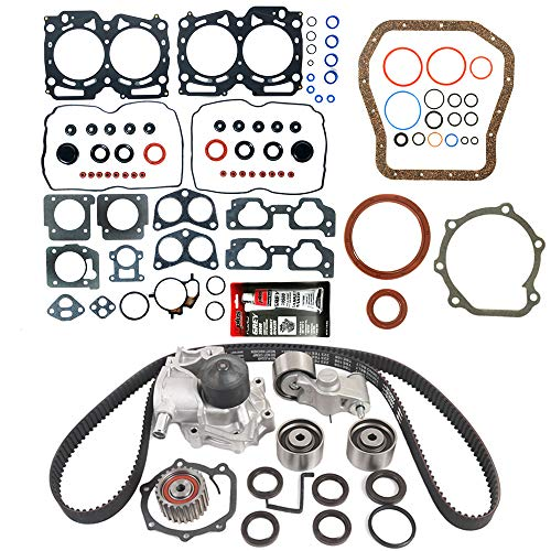 MOCA Timing Belt Kit & MPLUS Head Gasket Set & Lower Gasket Set Compatible for 1999-2003 Subaru...