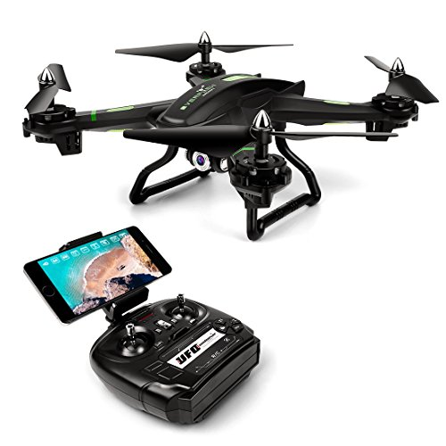 LBLA FPV Drone with WiFi Camera Live Video Headless Mode 2.4Ghz 4 Ch 6 Axis Gyro RTF RC Quadcopter, Compatible with 3D VR Headset, Black
