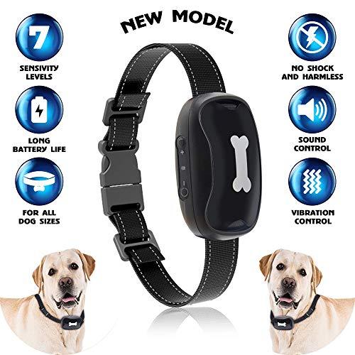 Bow2Wow Anti Bark Dog Collar   Stops Barking with Sound and Vibration   Anti Barking Device   No Shock   Small and Medium Dog   Free Spirit Bark Collar   Harmless and Humane   New Version