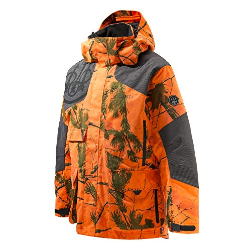 BERETTA Insulated Static EVO Chaqueta, Hombre, Realtree Ap Camo-Reloj de Pared, Color Naranja, Large
