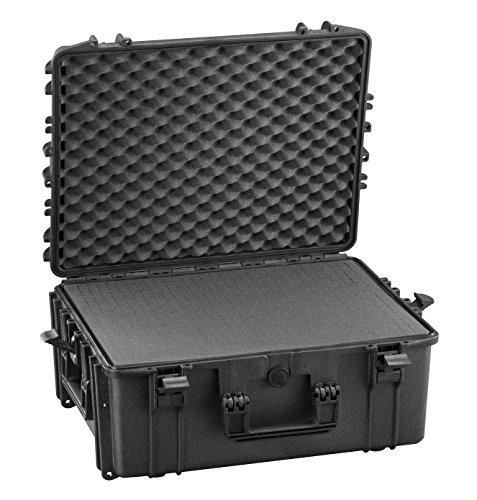 Perel HC540SH245TR Hartschalen-Trolley-604 x 473 x 283 mm-mit Noppenschaum, schwarz