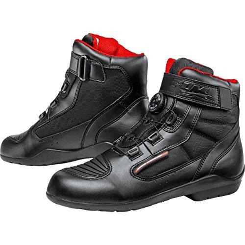 FLM Motorradschuhe, Motorradstiefel kurz Sports Schuh wasserdicht 1.1 schwarz 42, Unisex, Sportler, Ganzjährig, Leder/Textil