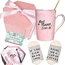 Bosmarlin Birthday Gifts for Grandma, Best Nana Ever Coffee Mug, Cute Mug Gifts for Grandmother, 13 oz, Pink Ceramic Marble Mug (Best Nana Ever)