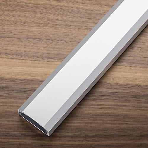 Design Kabelkanal 1100 x 50 x 20 mm silber eloxiert mit Platz für viele Kabel Kabeldurchführung Kabelhalter Design trifft auf Funktion von SCHÜCO ALU COMPETENCE