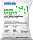 Chemsorb GA - General Absorbent - 5 Gal. Bag, SP30GA-L5B, Universal Absorbent, Light Weight Spill Response. Silica Free, Absorb: Oil, Grease, Chemicals, Solvents, Diesel Fuel, White
