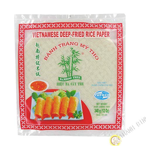 Tufoco Papel de arroz frito vietnamita (22 cm) 340 g