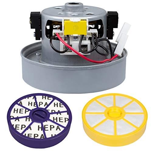 Hochwertiges Motor inkl. Thermostat mit 2 Filtern - Für Dyson DC05 DC08 DC08i DC11 DC19 DC20 DC21 DC29 passend (1600W YDK) - Bestleistung beim Saugen