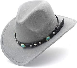 LiWen Zheng Vintage Fedora Hat Wool Felt Women's Men's Unisex Western Cowboy Hat For Wide-brimmed Cowgirl Calette Scorpion Leather Belt