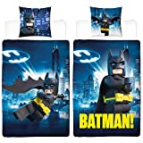 Lego Kinder Bettwäsche Batman Gotham 135 x 200 + 80 x 80