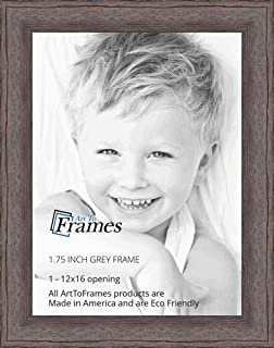 ArtToFrames WOM82223-101-12x16 Barnwood Wood Picture Frame, 12 x 16, Grey