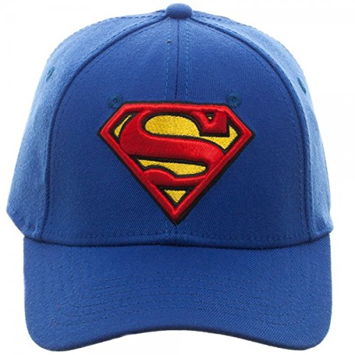 Baseball Cap - Superman - Royal Flex Cap New Hat Licensed Bx3n17spm ... effb9814644
