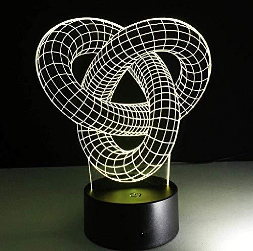 Novedad Led Usb 3D Lámpara Led Mini Luces Led Acrílico Noche Lighttouch Switch R Niños Lámpara Dormitorio