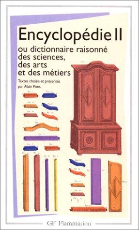 Encyclopédie 2, ou dictionnaire raisonné sciences des arts et des metiers