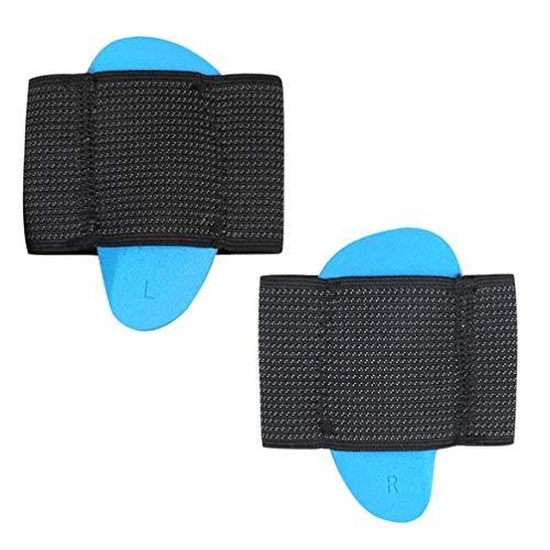 EXCEART 1 par de Almohadillas de Soporte de Arco Cuidado de Arco Vendaje Cojín de Dolor de Pie Plantillas Insertar Mangas de Pie Deportivas para Mujeres Hombres