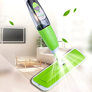 MangGou Microfiber Floor Mop, Professional 360 Degree Microfiber Spray Mop, Handle Mop for House, Kitchen, Hardwood, Tile Floor Cleaning
