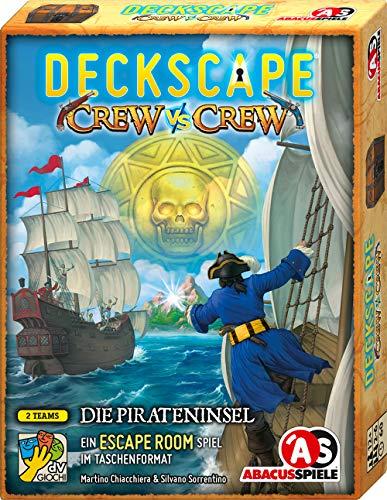 ABACUSSPIELE 38211 - Deckscape - Crew vs Crew – Die Pirateninsel, Escape Room Spiel, Kartenspiel