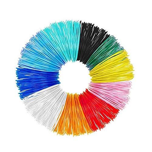 3D Pen Filament 10 Packs 1.75mm 3D Print PLA Filament Refills 16ft Colorful 3D Printer Filaments Convenient Supply