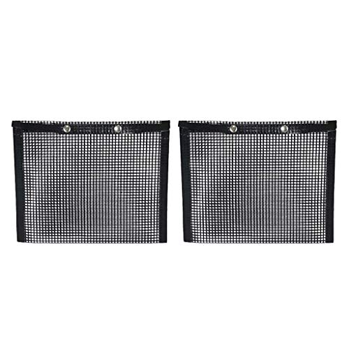 Lowest Prices! LOVIVER 2Pcs Non Stick Baking Grilling Bag, BBQ Grill Mesh Bag, High-Temperature Resi...