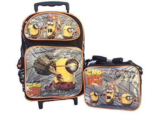 Granny's Best Deals (C) New 2015 Despicable Me Crominion Large Roller Backpack with matching Lunch Bag-Brand New!