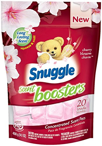 Snuggle Laundry Scent Boosters Concentrated Scent Pacs, Cherry Blossom Charm, Pouch, 20 Count