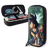 Estuche para lápices de cuero Estuche para papelería escolar Estuche para lápices con personajes de Goku para niños, Estuche para maquillaje, Estuche para herramientas
