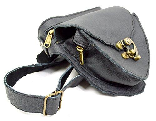 Leder Tasche Gürteltasche Mittelalter Seitentasche Bauchtasche Goa