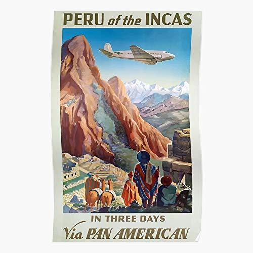 Generic Peru Incas Picchu Inca Vintage Travel Machu Home Decor Wandkunst drucken Poster !