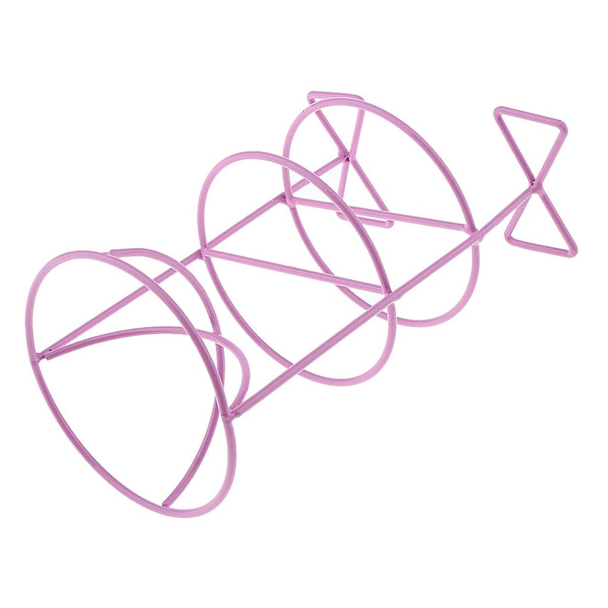 無一文嫌悪注文F Fityle パフホルダー 化粧パフ置き パフ乾燥 3色選べ - 紫