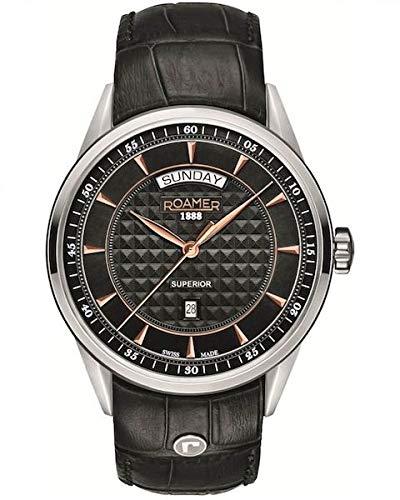 Roamer Reloj Analógico para Hombre de Cuarzo con Correa en Cuero 508293 49 55 05