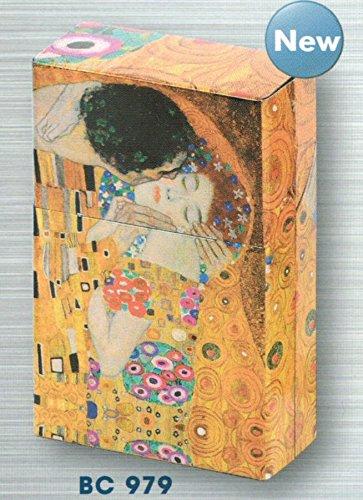 Metallbox FRANZOSICH Vintage Metall Zigaretten Box Maler Klimt MALEREI DER Kuss LE BAISER