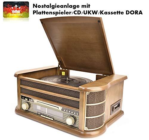 NEWTRO Nostalgieanlage mit Plattenspieler/CD/UKW/Kassette Dora