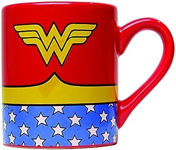Silver Buffalo DC Comics Wonder Woman Uniform Jumbo Ceramic Mug