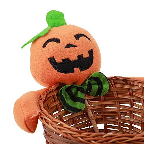 Velaurs Canasta de Dulces, Adorno Realista de Halloween, Sala de niños para niños, Dormitorio, Sala de Estar, Mesa