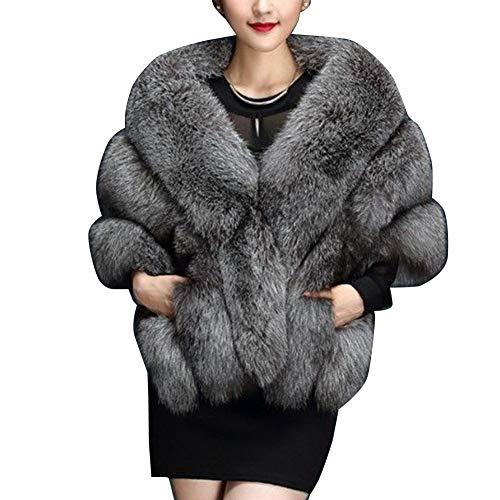 YAOTT Capa de Abrigo Invierno para Mujer, Capa Larga de Lujo de...