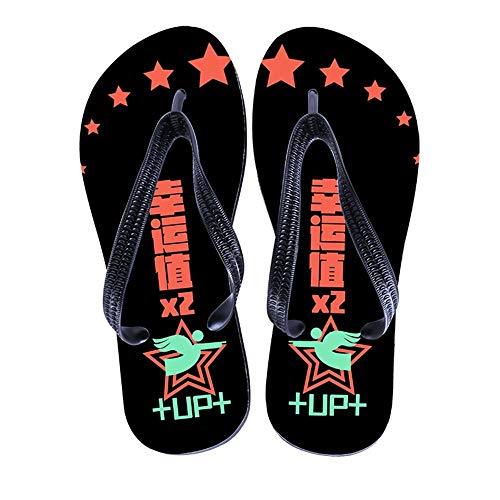 OUGEA Zapatillas periféricas de Anime Spoof Second Yuan Carácter Flip Creative Sandwalp-Valor Afortunado_S (Adecuado para 39-40)