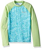 Columbia Kids' Big Mini Breaker Long Sleeve Sunguard, Candy Mint Swirl Print, XL