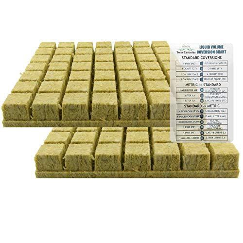 1.5' Rockwool Starter Plugs, 2 Sheets of 49 Plugs (98 Plugs Total) + Twin...
