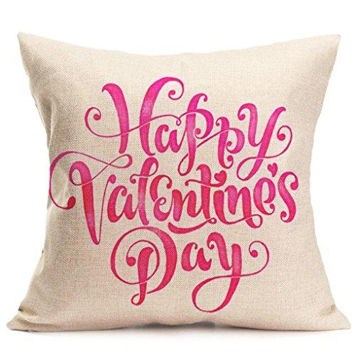 Covermason Lovers Couple Sweetheart Peinture Housse de taie d'oreiller en Lin pour canapé Home Shop Décor 43 x 44 cm, Lin, b, Carré