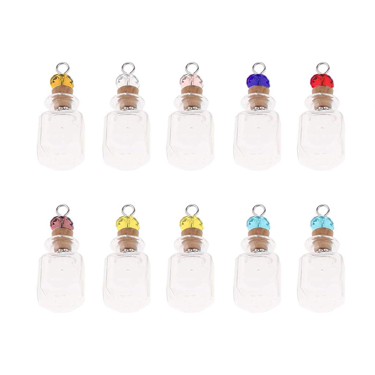 ニンニク起訴するフォルダP Prettyia 約10本入り ミニボトル 香水瓶 空の瓶 ガラスボトル コルク栓 メイク道具