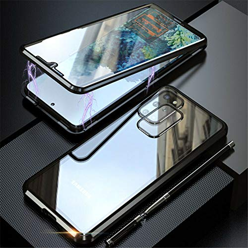 Yidai-Silu - Carcasa protectora para Samsung Galaxy S20 (imán del rey IV, parte delantera + trasera + cámara de cristal templado), transparente