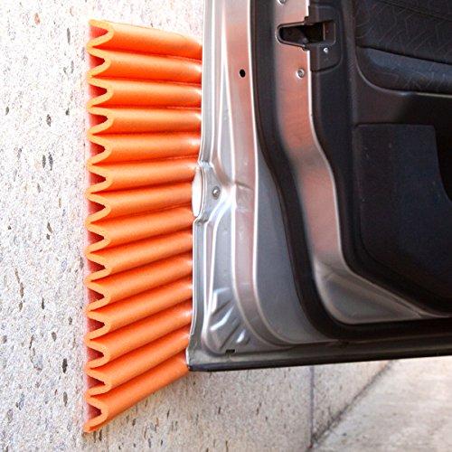 Stoßdämpfende Wandplatten von leggerodesign: Selbstklebende Türkantenschutz Auto | Wasserabweisend | Garagen-Wandschutz | Jede Schachtel enthält vier Schaumstoffplatten ≈ 44 x 59 cm, Farbe: Orange