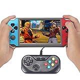 Nuevo CZT Consola de Juegos Arcade de Doble Jugador de 5.1 Pulgadas 8500 Juegos incorporados para CPS/NEOGEO/FC/SFC/MD/GBA batería de Gran Capacidad Compatible con música de Video (Azul-Rojo)