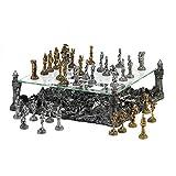 Koehler 15189 15.5 Inch Gray Battleground Chess Set