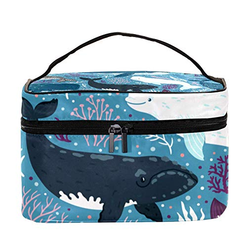 TIZORAX Leuke haakjes met koraal make-up tas reizen toilettas grote make-up organizer box