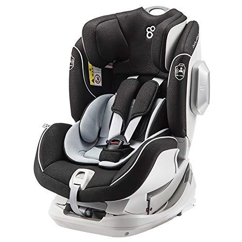 WWLONG Cómodo Asiento automóvil para niño, Asiento Seguridad para niños 0-4-7 años para el automóvil, Interfaz ISOFIX bidireccional Positiva y Negativa, cojín de Asiento Seguridad para niños-PurpleGo