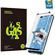 Guanzer Panzerglas Schutzfolie für Galaxy S8 Plus, Gute Qualität 3D Gehärtetes Glas Panzerglas [Ultra Klar] [9H Härtegrad] [Blasenfreie Installation] [Anti-Kratzen] [Anti-Fingerabdruck] Displayschutzfolie für Samsung Galaxy S8 Plus