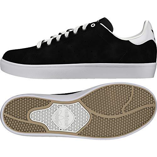 Adidas Original Stan Smith Vulc, Chaussures de skate mixte adulte - noir - Noir ((Negbas/Negbas/Ftwbla)), 43 1/3 EU